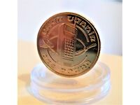 1990 ISLE OF MAN - MOBILE PHONE TECHNOLOGY TELECOMMUNICATION ONE POUND COIN - BRILLIANT UNCIRCULATED