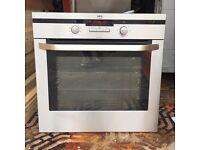 AEG single built in oven, stainless