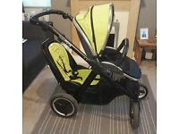 Oyster max tandem pram with car seat for sale