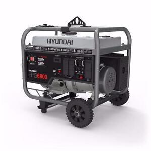 NEW HYUNDAI 6800W 4-STROKE HEAVY DUTY GAS GENERATOR HPG6800 - NEW IN BOX