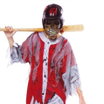 Baseball Costume For Boys (Boys BASEBALL Player ZOMBIE Halloween Purim Costume Dead Scary XL 10 12 14)