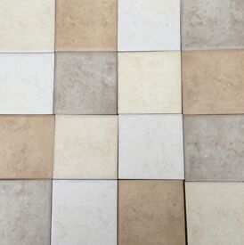 Kitchen wall tiles in natural shades