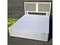 Ex-display King Size Divan Bed.