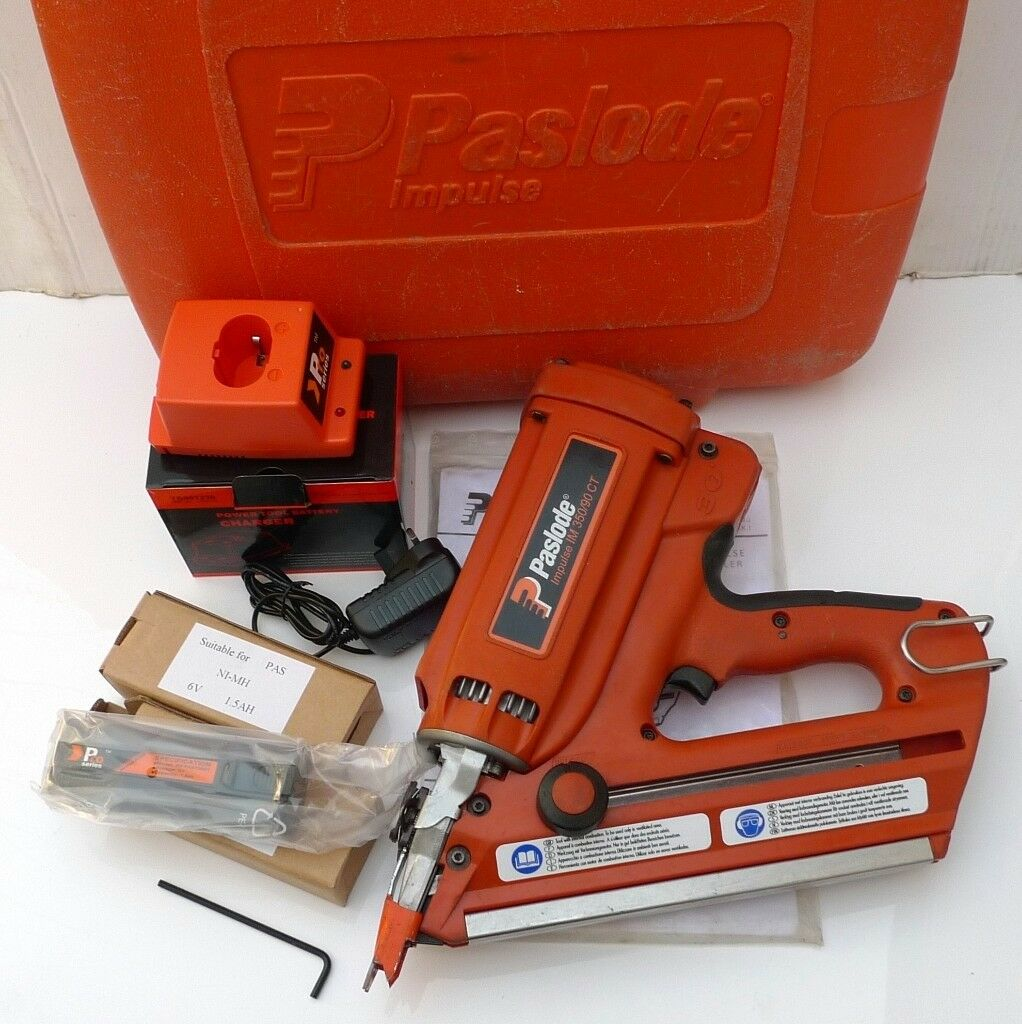 Paslode Im350 First Fix Nail Gun Orange Probe Case