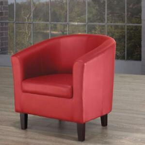 SALE ON RED ACCENT TUB  CHAIR (BF-177)