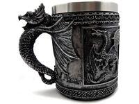 "New Leaf Dragon "" GOT "" style mug / tankard Unused"