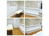Beauty/Treatment room for rent in busy city center salon.