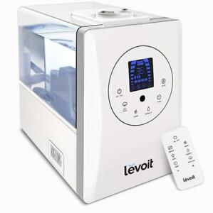NEW Levoit Ultrasonic Humidifiers, Warm and Cool Mist Humidifier with Remote, 6L/1.6 Gallon