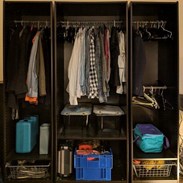 PAX (IKEA) Open Wardrobe - brown  Total width:175 cm (depth: 58cm, height:  201 cm)  Comes in 3 parts | in Upminster, London | Gumtree