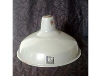 Vintage Enamel Shade Benjamin Crysteel Light Shade 1950s Industrial R.L.M