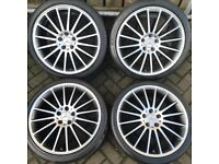 "##CHEAP## 19"" Mercedes C Class alloys staggered, with tyres"