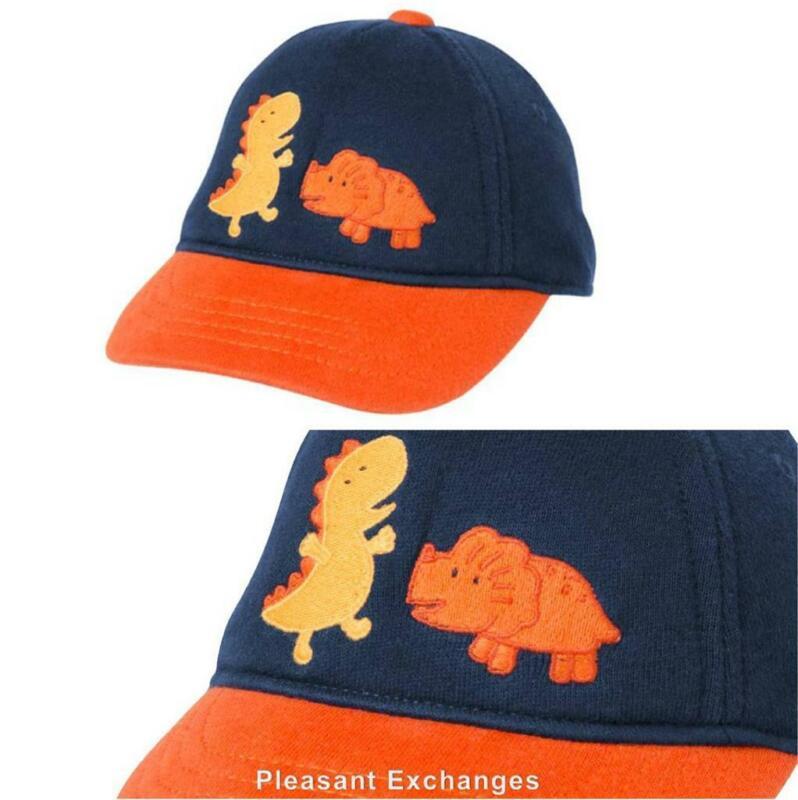 NWT Gymboree 0 3 mos ANIMAL FRIENDS Baby Boys Dino Dinosaur Baseball Cap Hat