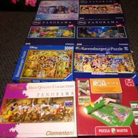 Disney 1000 piece jigsaw puzzles and puzzle mat