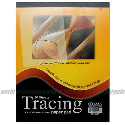 30 sht TRACING PAPER PAD 9x12 Quality Sketch Book Pencil Drawing Art Overlay C29 12 Tracing Paper Pad