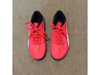 For sale Astro trainers size 4and shin pads