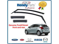 GENUINE FORD FOCUS 2011 - 2013 'CLIMAIR' WIND AIR DEFLECTORS FRONT + REAR