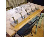 French vintage industrial hooks. Vintage coat hooks. french decor. coat hooks.
