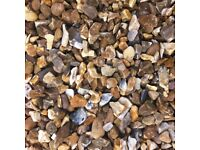 Bulk Bag Of Golden Flint decorative chippings (Yellow Flint)