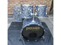 PREMIER DRUMS Special Edition Shell Pack In Rare Black Diamond Pearl Finish