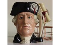 Royal Doulton The Antagonist Collection Character Toby Jug George lll/ George Washington