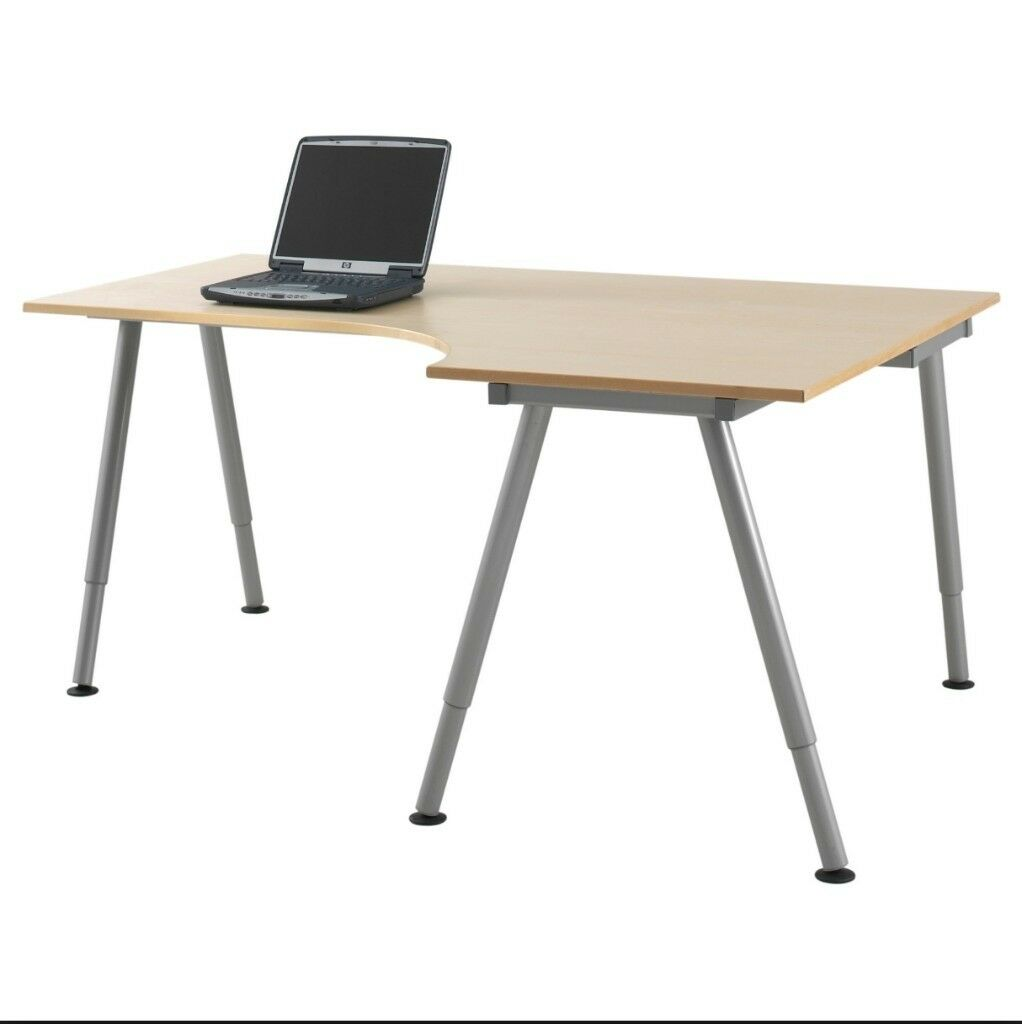 Ikea Galant Desk Right Side Wide Optional Round End Extension As Per