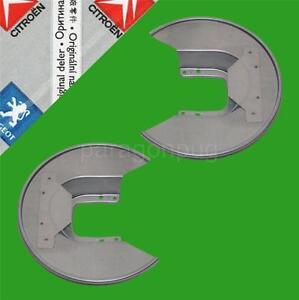 new genuine peugeot 205 gti 306 gti rear brake disc protectors ebay