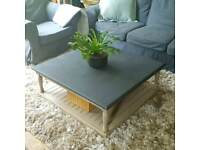 Stunning solid square coffee table