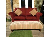 Red Parker Knoll Sofa Suite - REDUCED