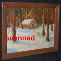 CANADIAN FOLK ART OIL PAINTING, MANITOBA, SIGNED, TITLED, 1976