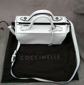 COCCINELLE Leather Bag White - Genuine - Blyth Pickup - £80 ONO