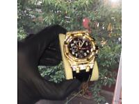 Fully iced out gold audemars piguet diamond new watch