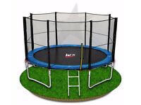 10FT Trampoline With Safety Net Enclousue Padding Ladder Rain Cover