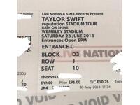 Taylor Swift Reputation Tickets D3 J10,11