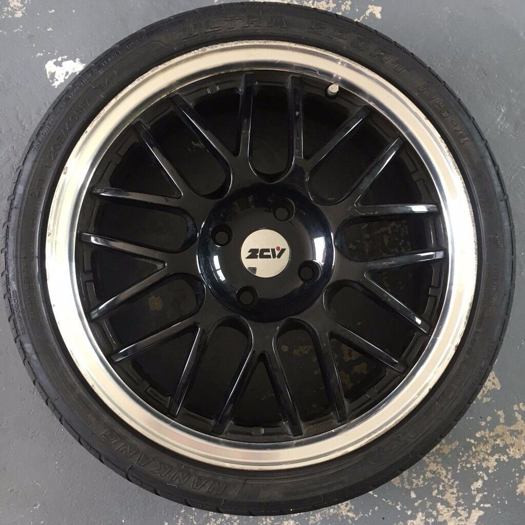"17"" ZCW Angel Gloss Black Alloy Wheels + tyres - 4 x 108mm"