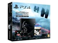 Ps4 1tb Starwars limited edition, boxed with controller and game. Will swap for xbox One S
