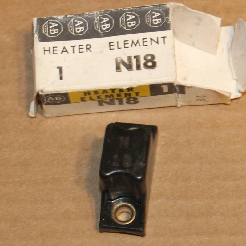 One Allen Bradley AB  N18 OVERLOAD Thermal Heater Element