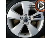 """17"""" Genuine alloys VW Golf Caddy excel cond matching tyres."""