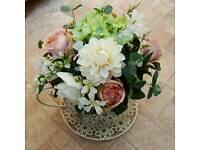 Wedding teacup flowers