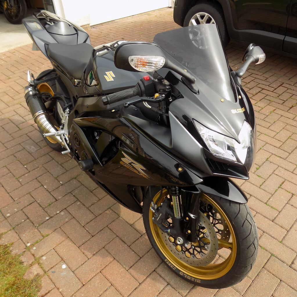 2008 suzuki gsxr 750 gsx r750 k8 black gold in. Black Bedroom Furniture Sets. Home Design Ideas