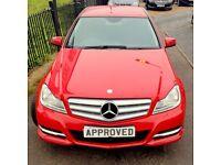 MERCEDES-BENZ C CLASS 2.1 C200 CDI BLUEEFFICIENCY EXECUTIVE SE 4d AUTO 1 (red) 2014