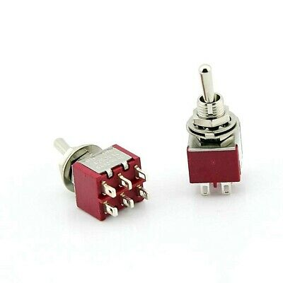 Dpdt Mini Toggle Switch On-on Solder Lug High Quality... Usa Seller