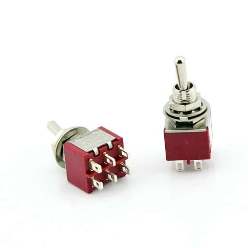DPDT Mini Toggle Switch ON-ON, Solder Lug, High Quality... USA SELLER!!!