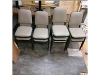 Set of 9 Upholstered Aluminium Banqueting Café Chairs