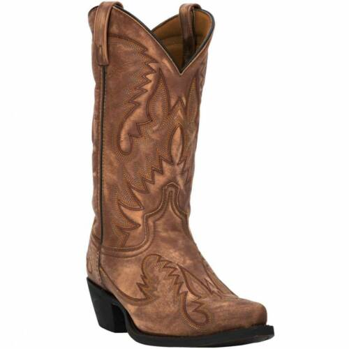 MENS, LAREDO, GARRETT, WESTERN, BOOTS, DISTRESSED, BROWN, 68403