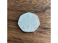 BEATRIX POTTER *rare* 50p coin