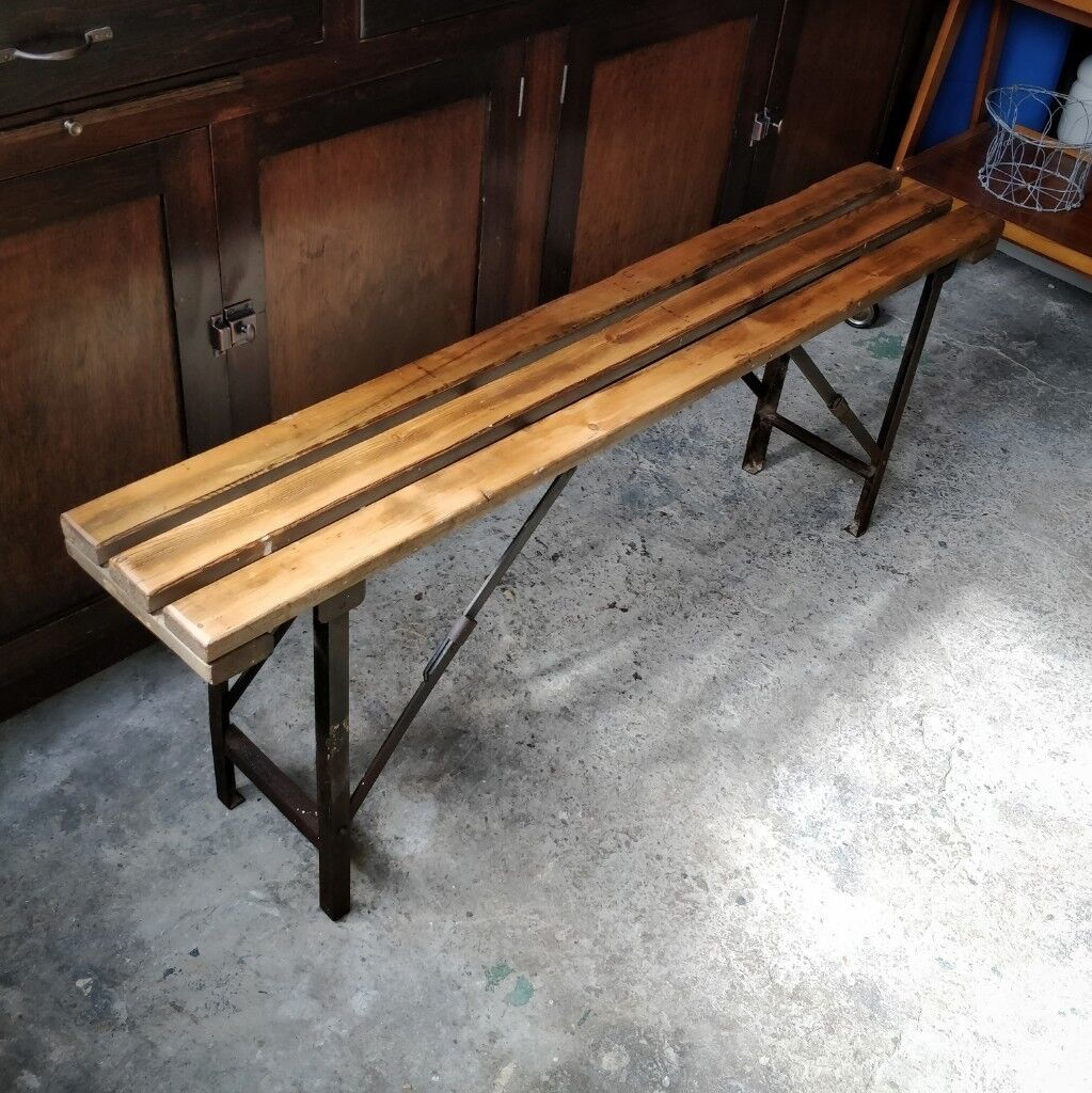 Vintage Folding Bench Industrial Bench Wooden Bench Kitchen Bench Rustic Vintage Wooden Bench In Lee On The Solent Hampshire Gumtree