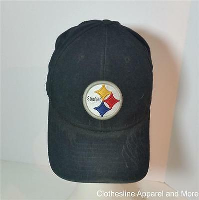 Pittsburgh Steelers Baseball Cap Fitted Large 7 3/4 Black Signed Greg Lloyd 95