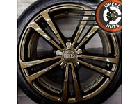 """18"""" Genuine Audi A3 S Line alloys Golf Caddy Leon perfect cond Continental tyres."""