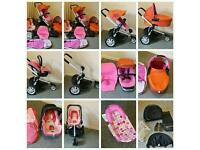 Quinny Buzz 3 Travel Set, Pushchair/Pram/Carrycot/Maxi Cosi Car Seat/Bath Seat & lot of accessories
