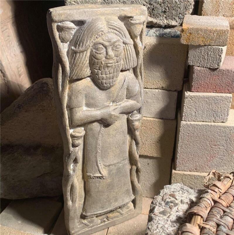 Biblical history King Hazael of Damascus Arslan Tash museum replica.Mesopotamia.